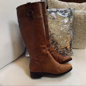 BANANA REPUBLIC Leather Knee High Boots Sz 8.5M